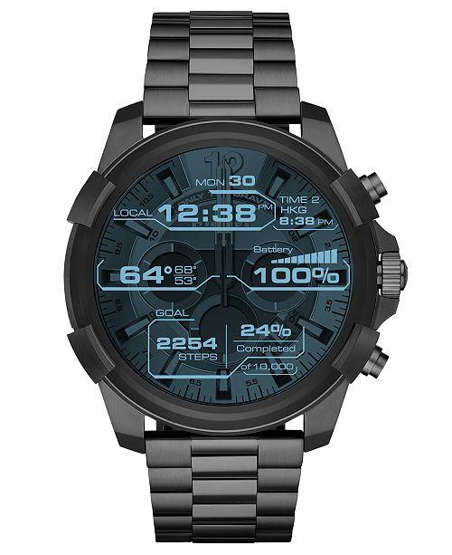 ON Men's Full Guard Gunmetal Stainless Steel Bracelet Touchscreen Smart Watch 48mm