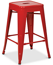 "Gordyn Metal Bar Stool 24"" 4-Pack, Quick Ship"