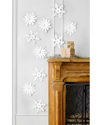 3D Snowflake Wall Decal 10 Pc. Set, Created For Macyu0027s