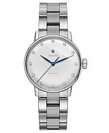 Women's Swiss Automatic Coupole Classic Diamond-Accent Stainless Steel Bracelet Watch 32mm