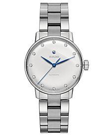 Rado Women's Swiss Automatic Coupole Classic Diamond-Accent Stainless Steel Bracelet Watch 32mm