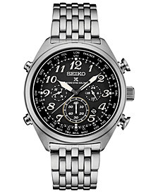 Seiko Men's Solar Prospex Chronograph Stainless Steel Bracelet Watch 44mm