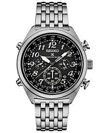 Seiko Men's Solar Prospex Chronograph Stainless Steel Bracelet Watch 44mm