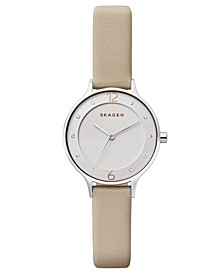 Women's Anita Nude Leather Strap Watch 30mm