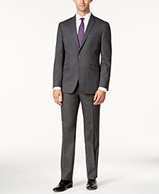 Men's Ready Flex Slim-Fit Medium-Gray Tonal Suit