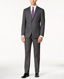 Kenneth Cole Reaction Men S Techni Slim Fit Medium Gray Tonal Suit