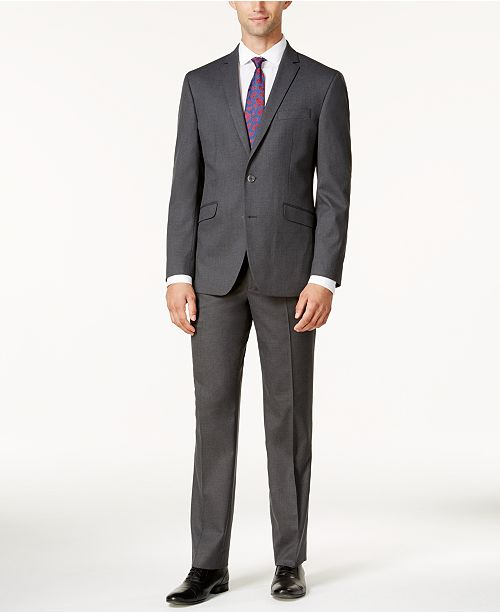 ... Suit  Kenneth Cole Reaction Men s Techni-Cole Slim-Fit Medium-Gray  Tonal ... 7244990bd