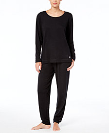 Hue Super Soft T-Shirt & Cuffed Pajama Pants Sleep Separates