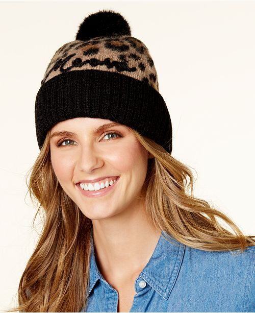 4bc7593d99fc kate spade new york Brushed Leopard Print Beanie & Reviews ...
