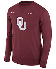 Nike Men's Oklahoma Sooners Therma-Fit Crew Sweatshirt