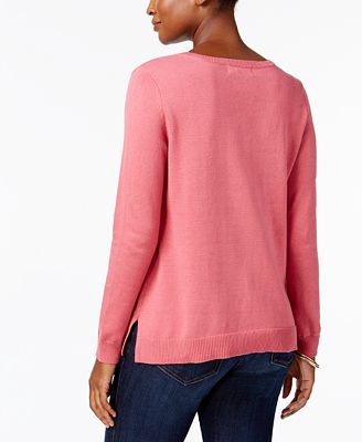 Karen Scott Petite Cotton Sweater, Created for Macy's - Sweaters ...
