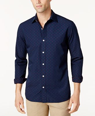 Brooks Brothers Red Fleece Men's Slim-Fit Dot-Pattern Shirt