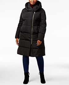 Cole Haan Signature Plus Size Pillow-Collar Heavyweight Puffer Coat