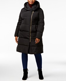 Cole Haan Signature Plus Size Pillow-Collar Puffer Coat