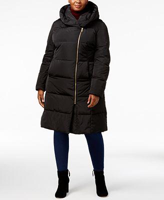 Cole Haan Signature Plus Size Pillow-Collar Heavyweight Puffer Coat