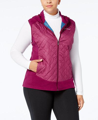 Columbia Plus Size Warmer Days Hooded Fleece Vest
