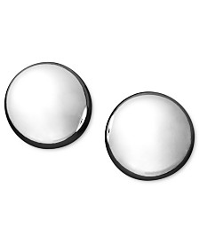 Flat Ball Stud Earrings (7mm) in 14k Yellow or White Gold