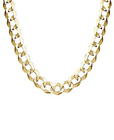 "22"" Men's Curb Chain Necklace (7mm) in Solid 14k Gold"