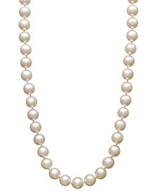 "Belle de Mer Pearl Necklace, 18"" 14k Gold Akoya Cultured Pearl Strand (7-7-1/2mm)"