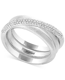 Balissima by EFFY® Diamond Crisscross Statement Ring (1/3 ct. t.w.) in Sterling Silver