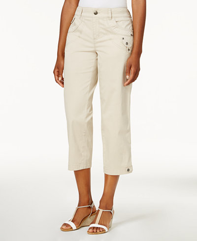 Style & Co Petite Twill Capri Pants, Created for Macy's