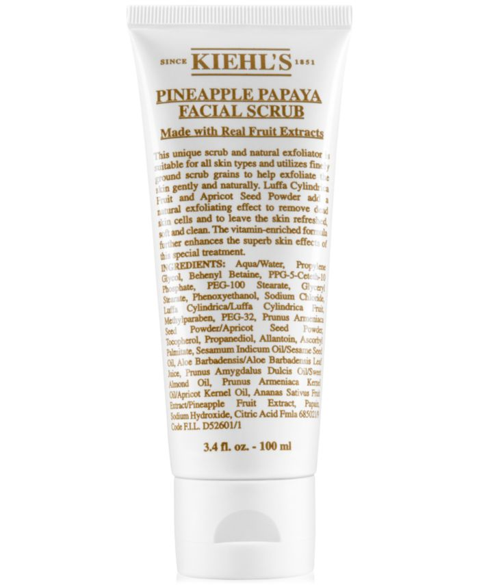 Kiehl's Since 1851 Pineapple Papaya Facial Scrub, 3.4-oz. & Reviews - Skin Care - Beauty - Macy's