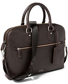 Polo Ralph Lauren Men's Pebbled Leather Briefcase