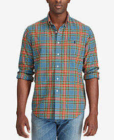 Polo Ralph Lauren Men's Big & Tall Iconic Plaid Oxford Shirt