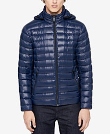 Calvin Klein Men's Packable Hooded Puffer Jacket