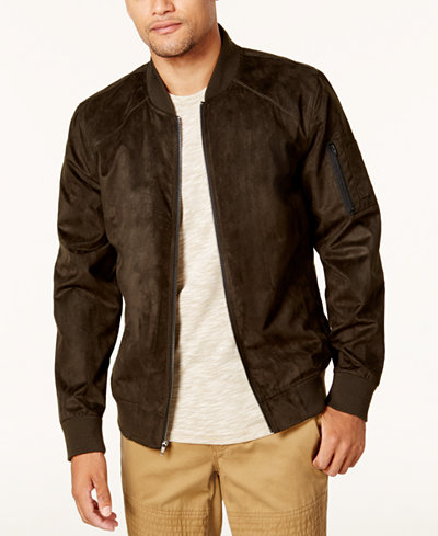 American Rag Men's Faux Suede Bomber Jacket, Created for Macy's ...
