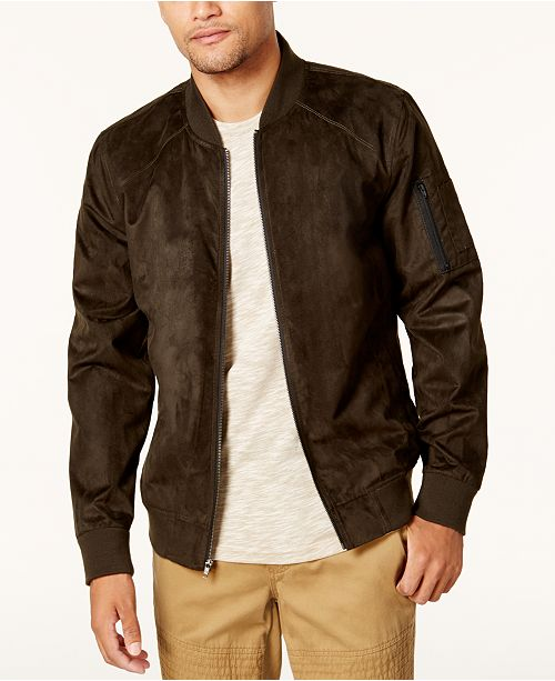 fac104395 American Rag Men's Faux Suede Bomber Jacket, Created for Macy's ...