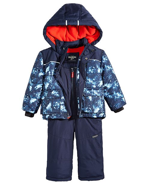 cf9f77144 Osh Kosh 2-Pc. Snowsuit, Toddler Boys & Reviews - Coats & Jackets ...