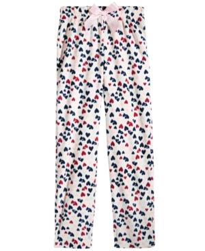 Max  Olivia HeartPrint Sleep Pants Little Girls (46X)  Big Girls (716) Created for Macys