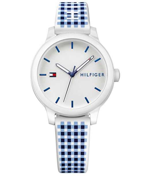 ffec6c060 ... Tommy Hilfiger Women's Gingham Silicone Strap Watch 38mm, Created for  Macy's ...