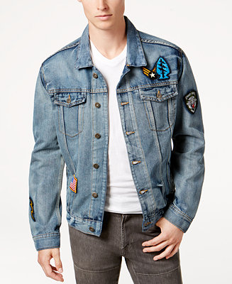 Ring Of Fire Men S Light Patch Denim Jacket Created For