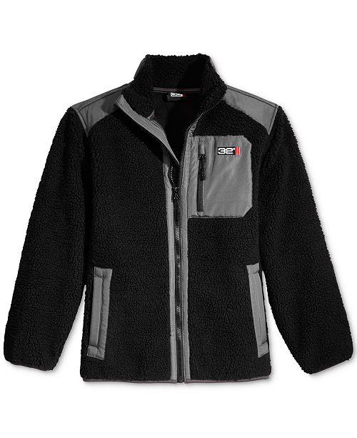 e7067716d 32 Degrees Zip-Up Fleece Jacket, Big Boys - Coats & Jackets - Kids ...