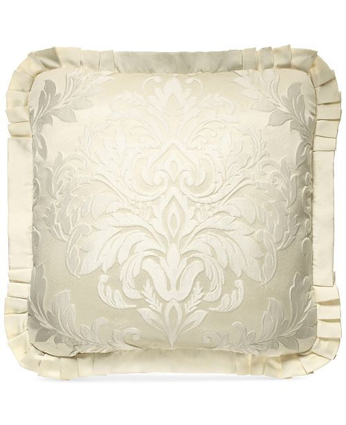 """J Queen New York Marquis 20"""" Square Decorative Pillow"""
