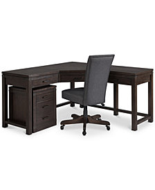 CLOSEOUT! Hendrik Home Office Furniture, 3-Pc. Set (Corner Desk, Desk Chair & File Cabinet), Created for Macy's