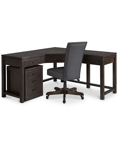 Corner Desk Chair File Cabinet