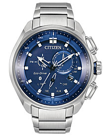 Citizen Eco-Drive Men's Chronograph Proximity Stainless Steel Bracelet Watch 46mm