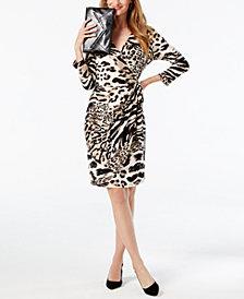 I.N.C. Printed Wrap Dress