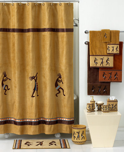 Avanti Bath Accessories Kokopelli Shower Curtain