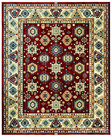 "KM Home Signature Nomad Tribal Red/Beige 2' 6"" x 4' Area Rug, Created for Macy's"