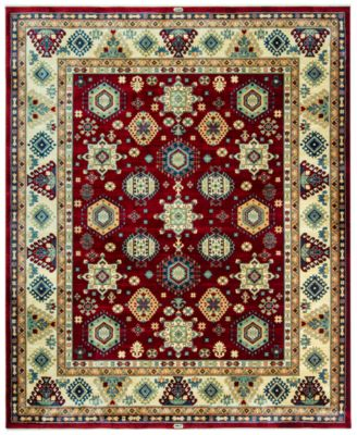 KM Home Signature Nomad Tribal Red/Beige 8u0027 X 10u0027 Area Rug,