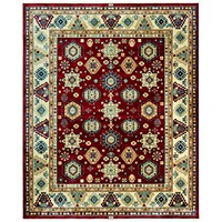 Deals on KM Home Signature Nomad Tribal Red/Beige 2ft x 3ft Area Rug