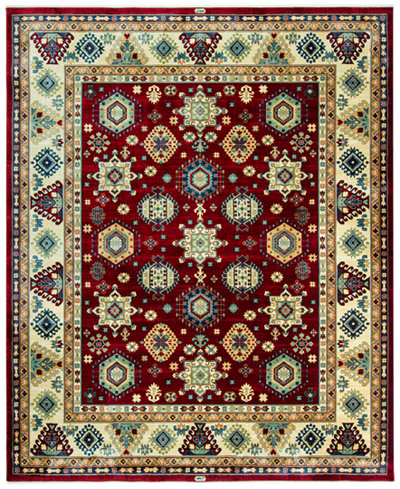 KM Home Signature Nomad Tribal Red/Beige 4′ x 6′ Area Rug, Created for