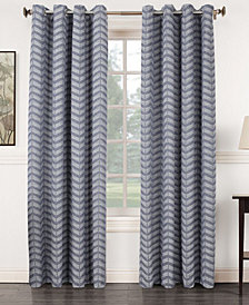 "Sun Zero Ramsey 50"" x 84"" Jacquard Blackout Grommet Curtain Panel"