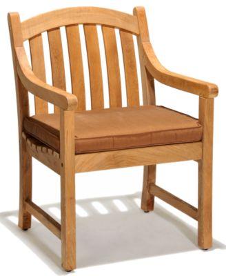 Bristol Teak Outdoor Dining Chair Furniture Macys