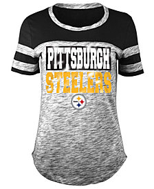 5th & Ocean Women's Pittsburgh Steelers Space Dye Foil T-Shirt