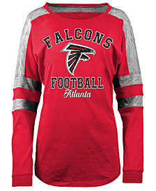 5th & Ocean Women's Atlanta Falcons Space Dye Long Sleeve T-Shirt